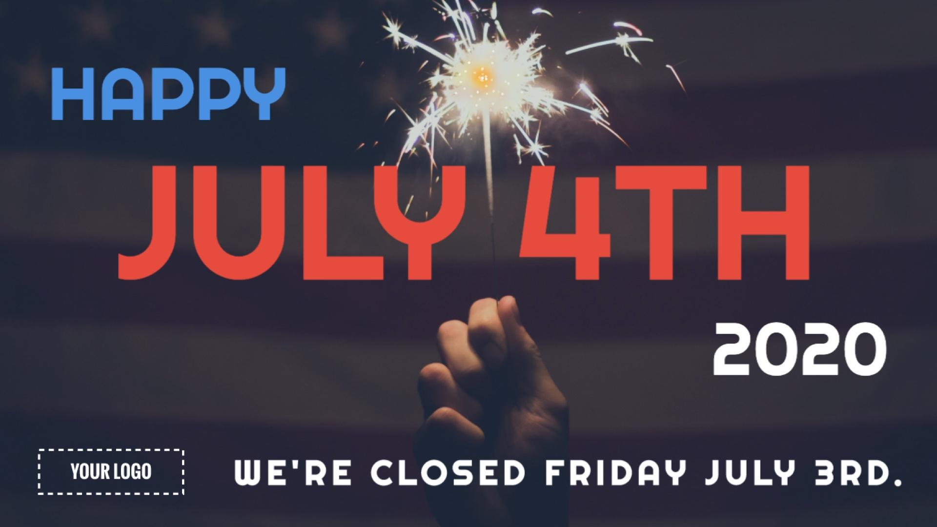 Holiday July 4th Digital Signage Template
