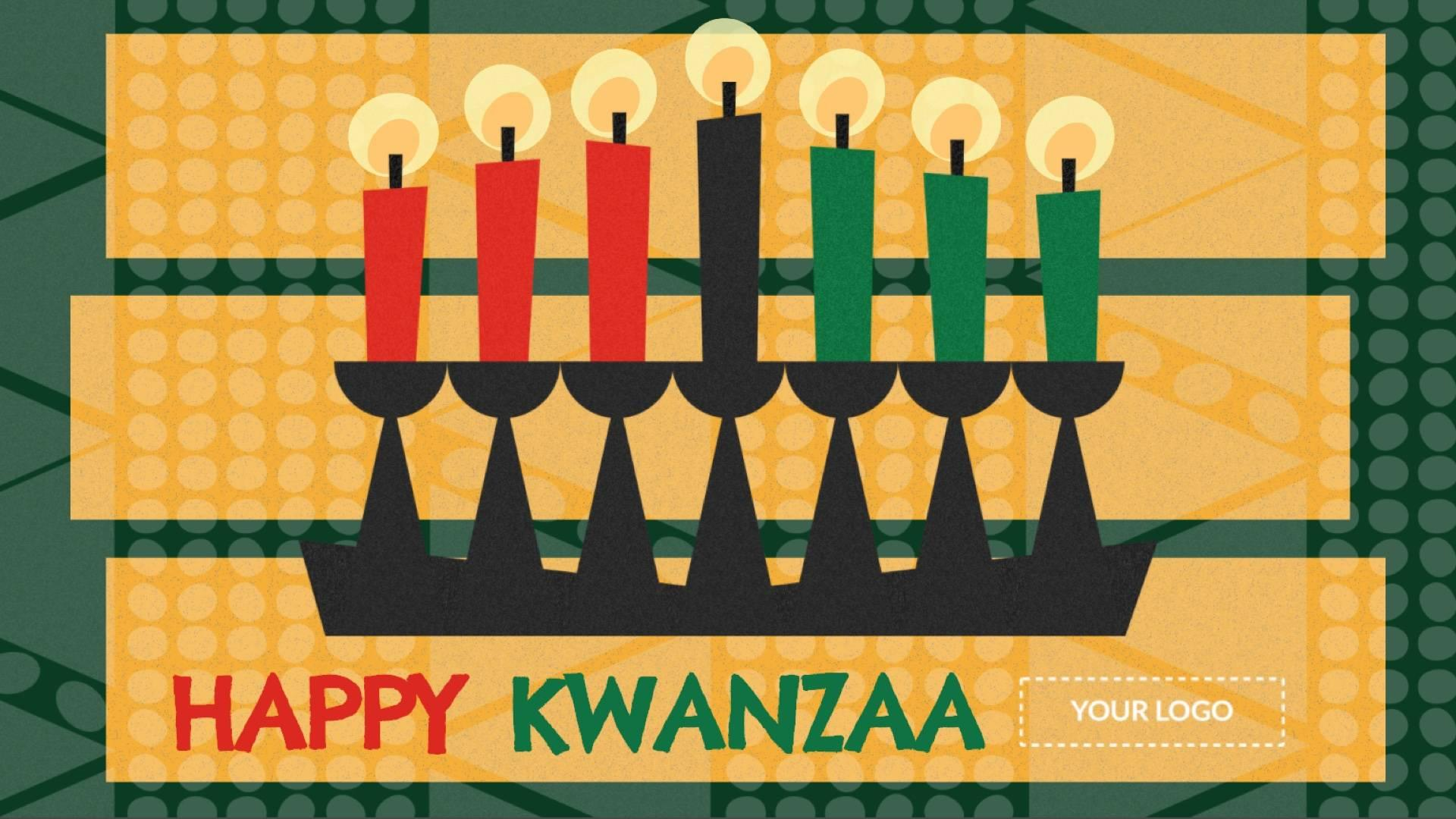 Holiday Happy Kwanzaa Digital Signage Template