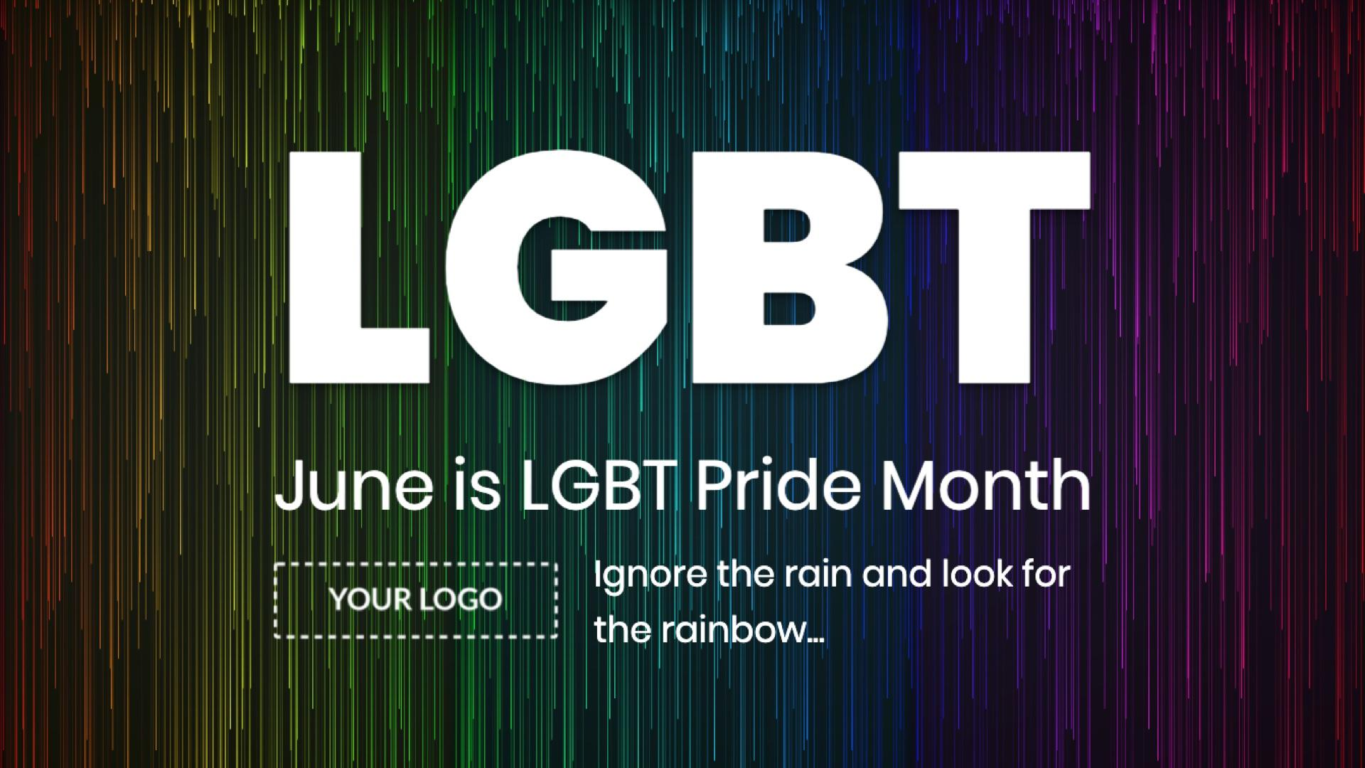 Campaign LGBT Pride Month Digital Signage Template
