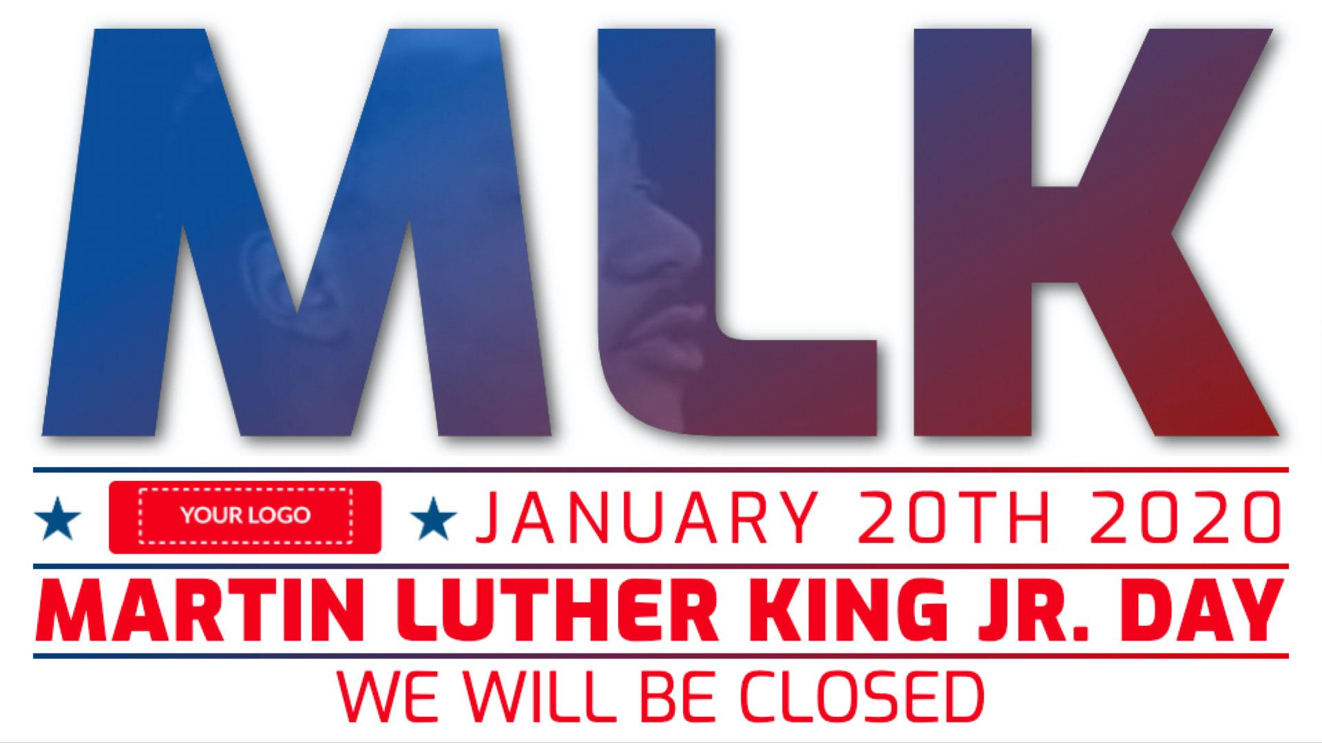 Martin Luther King Jr. Day Digital Signage Template