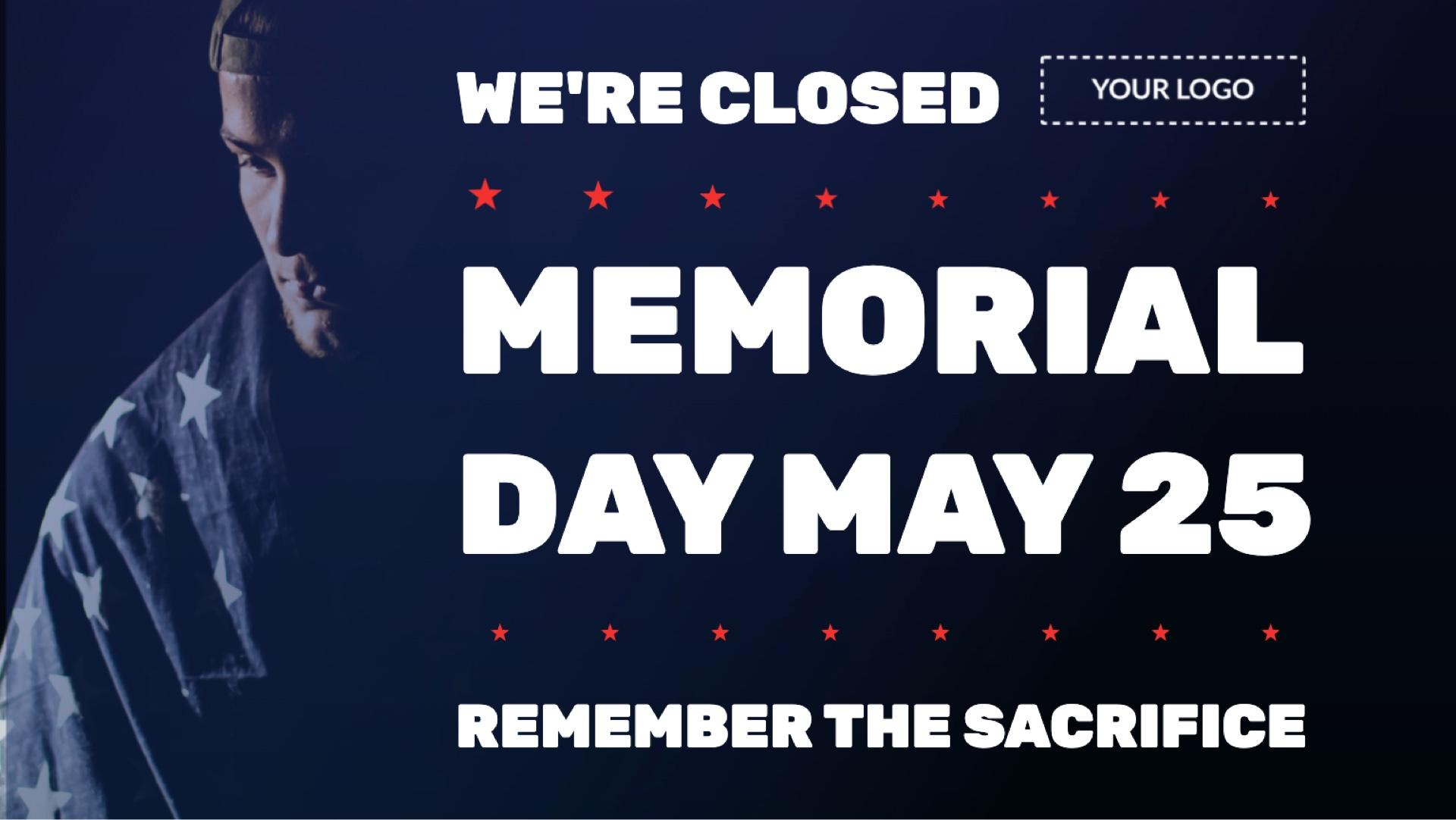 Holiday Memorial Day Digital Signage Template