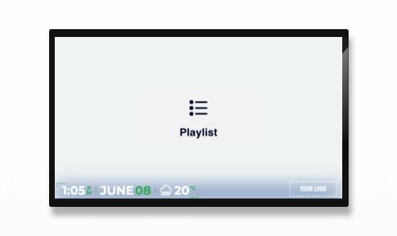 Full Screen Minimal Playlist Presentation