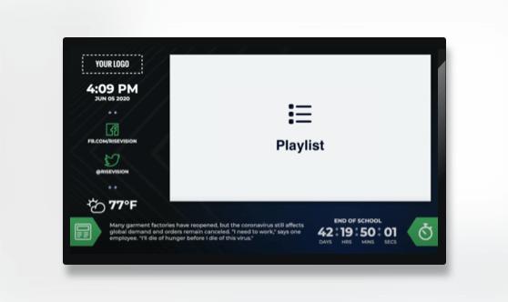 Zoned Countdown Playlist Presentation