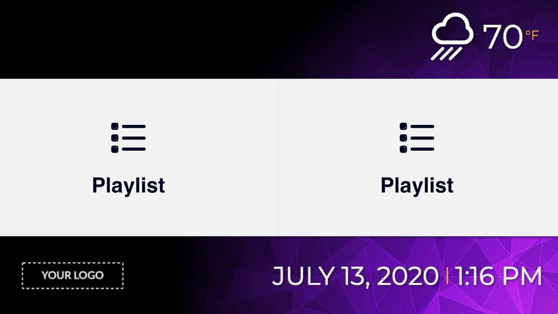 Zoned Playlist 2x1 Presentation Digital Signage Template