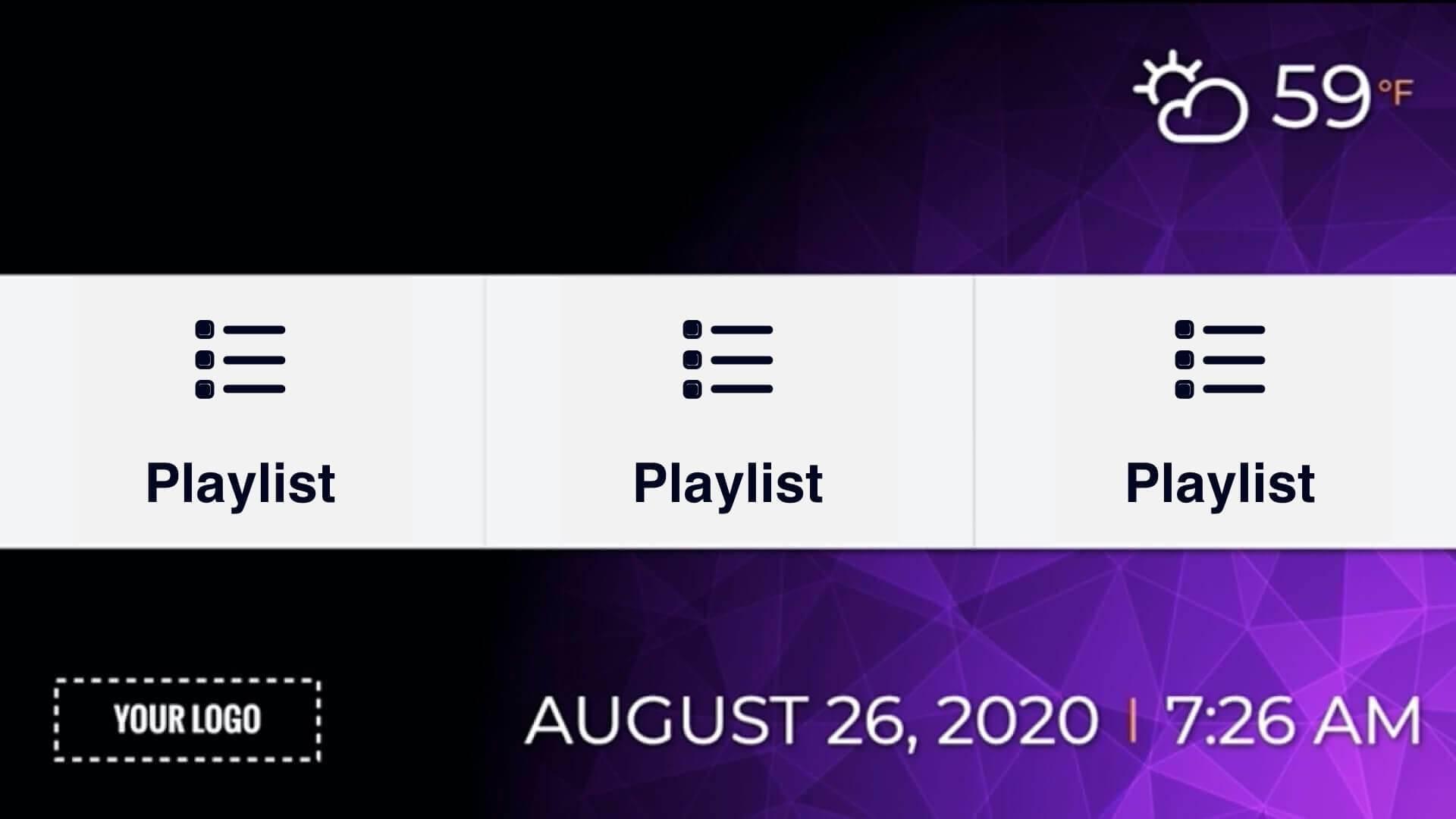 Zoned Playlist 3x1 Presentation Digital Signage Template