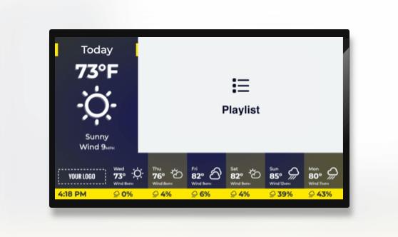 Zoned Playlist and Rain Forecast