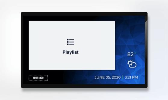 Zoned Minimal Playlist Presentation