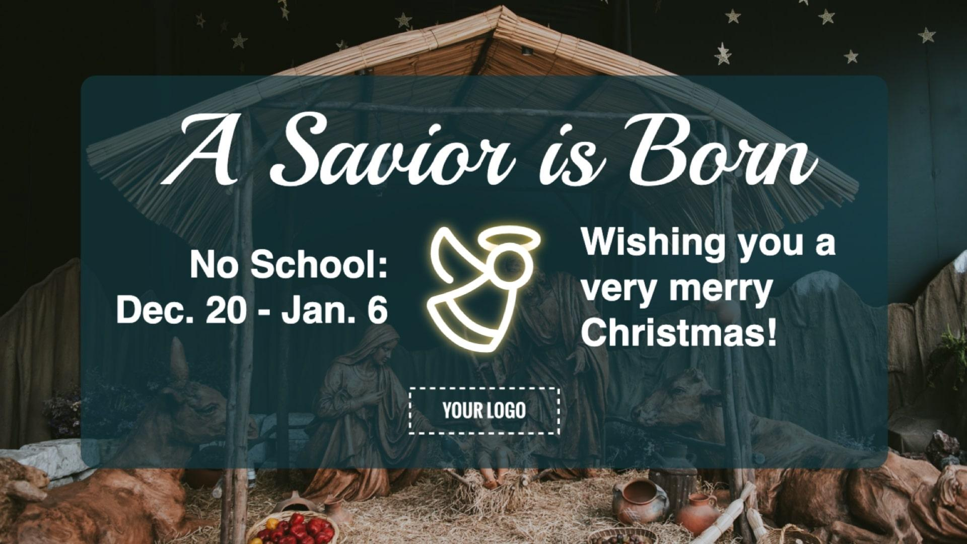 Religious Christmas Break Digital Signage Template