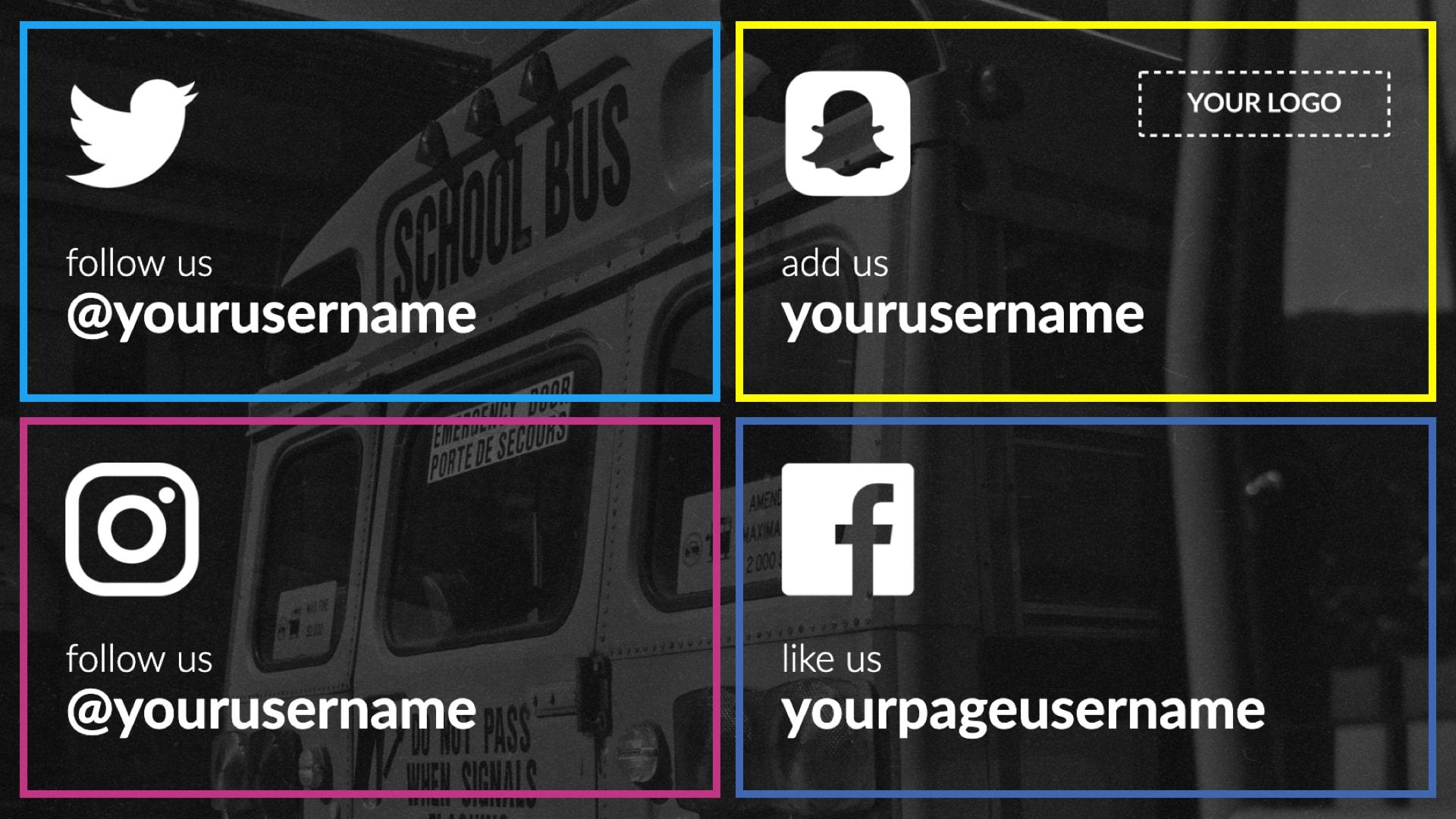 Social Media Digital Signage Template