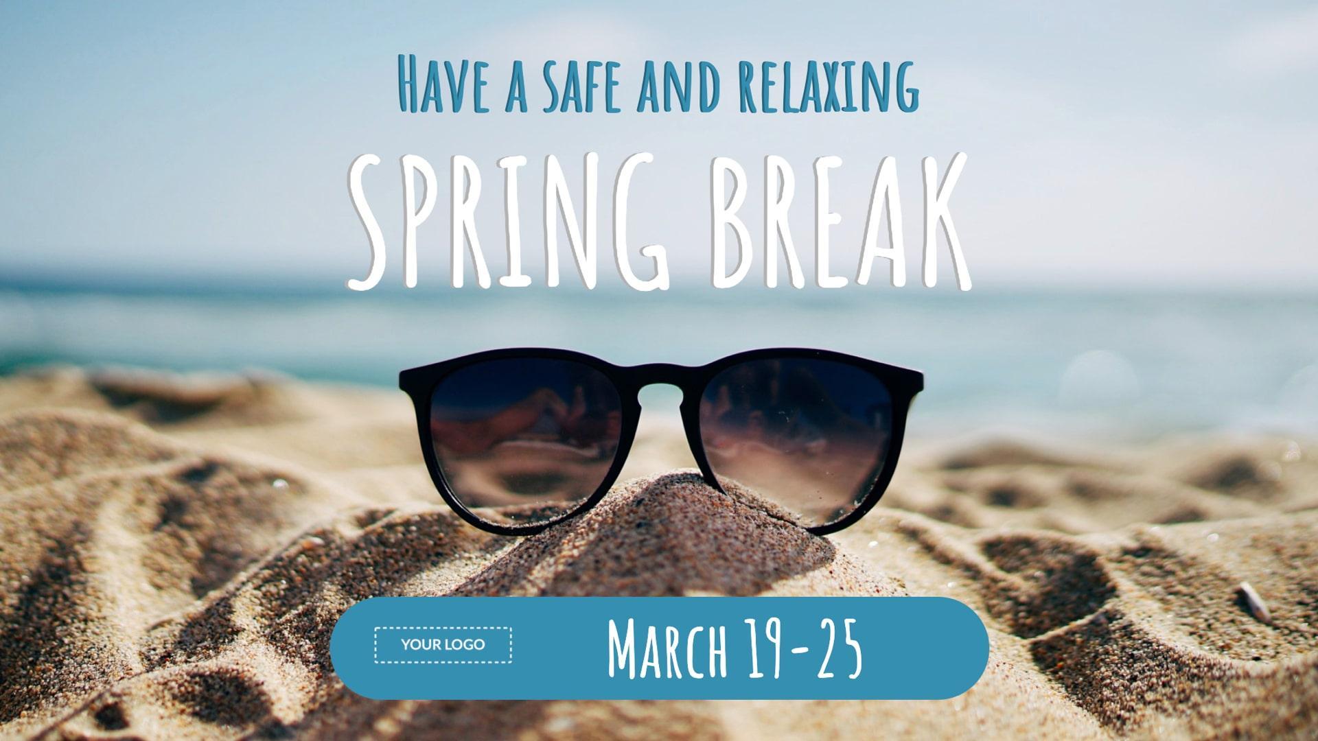 Spring Break Digital Signage Template