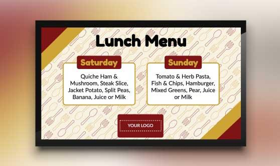 Two-Day Lunch Menu