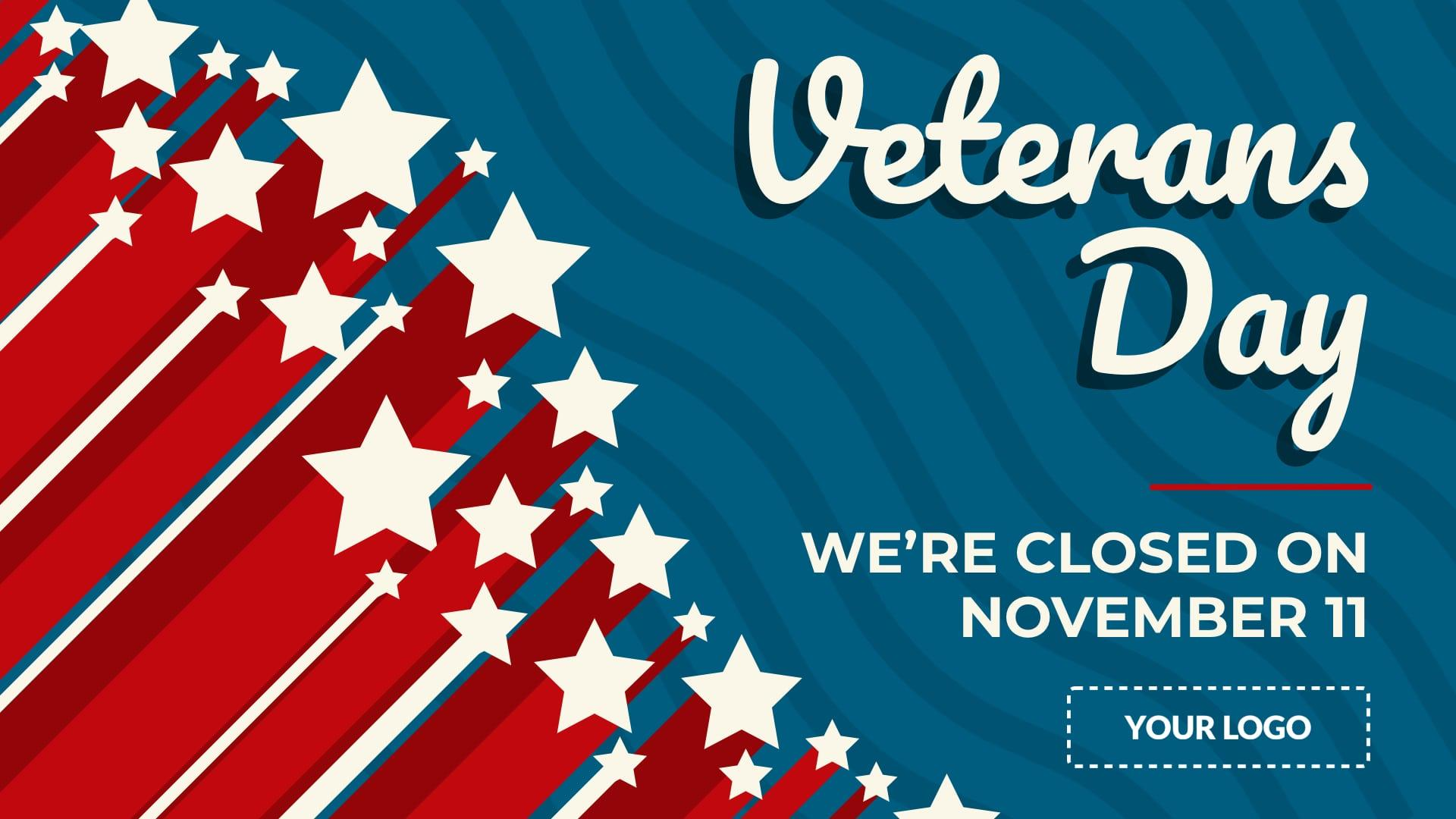 Veterans Day Digital Signage Template