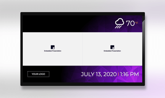 Zoned Embedded 2x1 Presentation