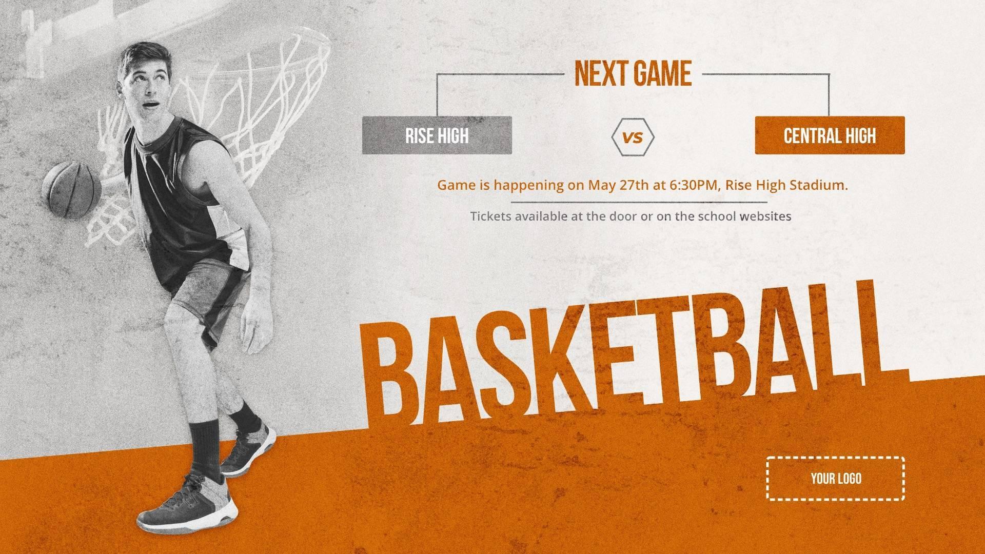 Basketball Game - Sports Digital Signage Template