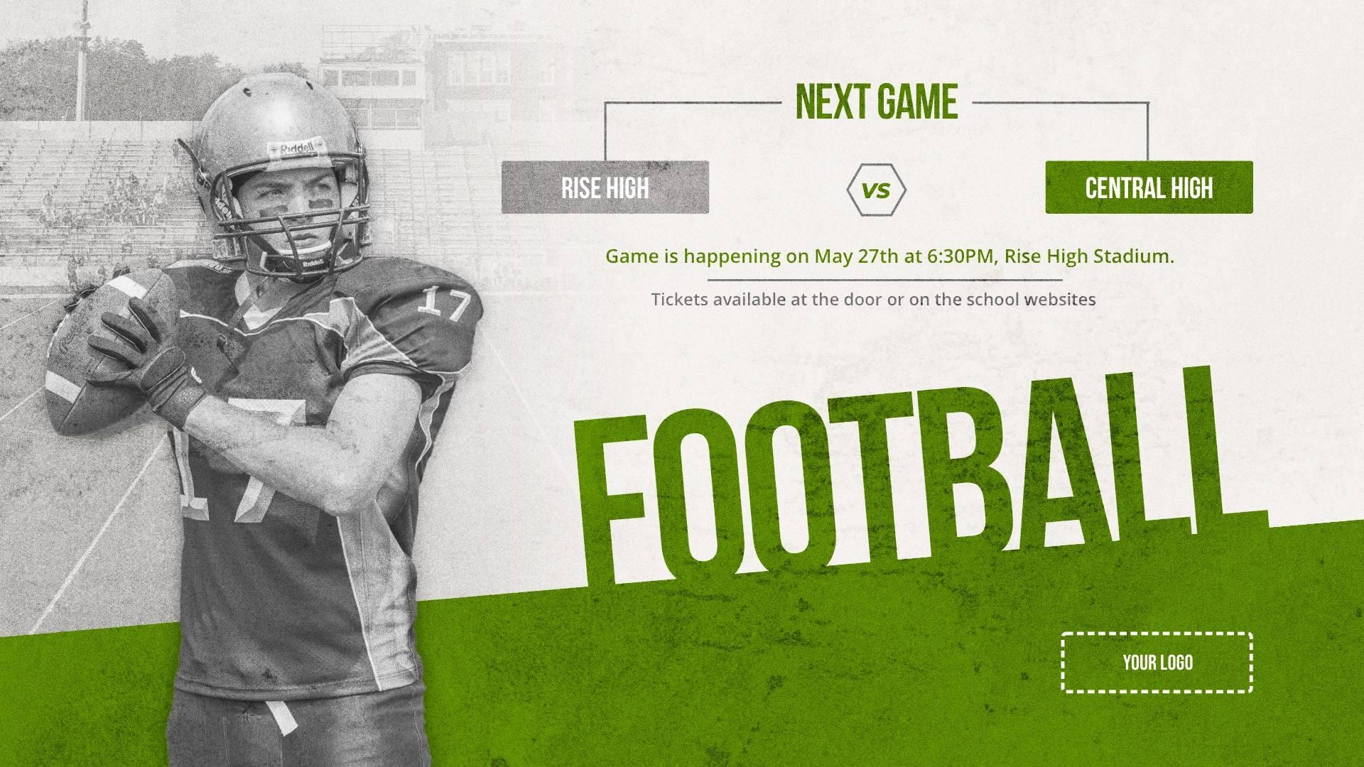 Football Game - Sports Digital Signage Template