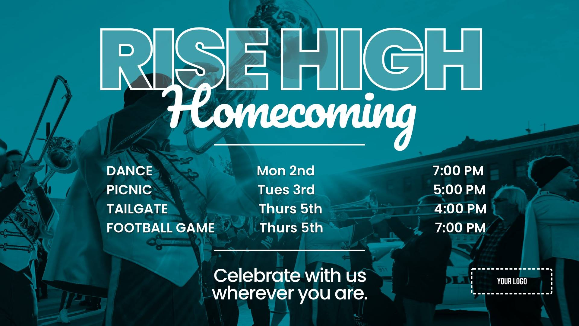 Homecoming Digital Signage Template