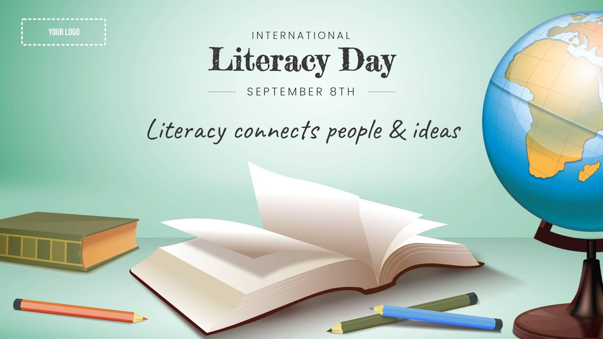 International Literacy Day Digital Signage Template