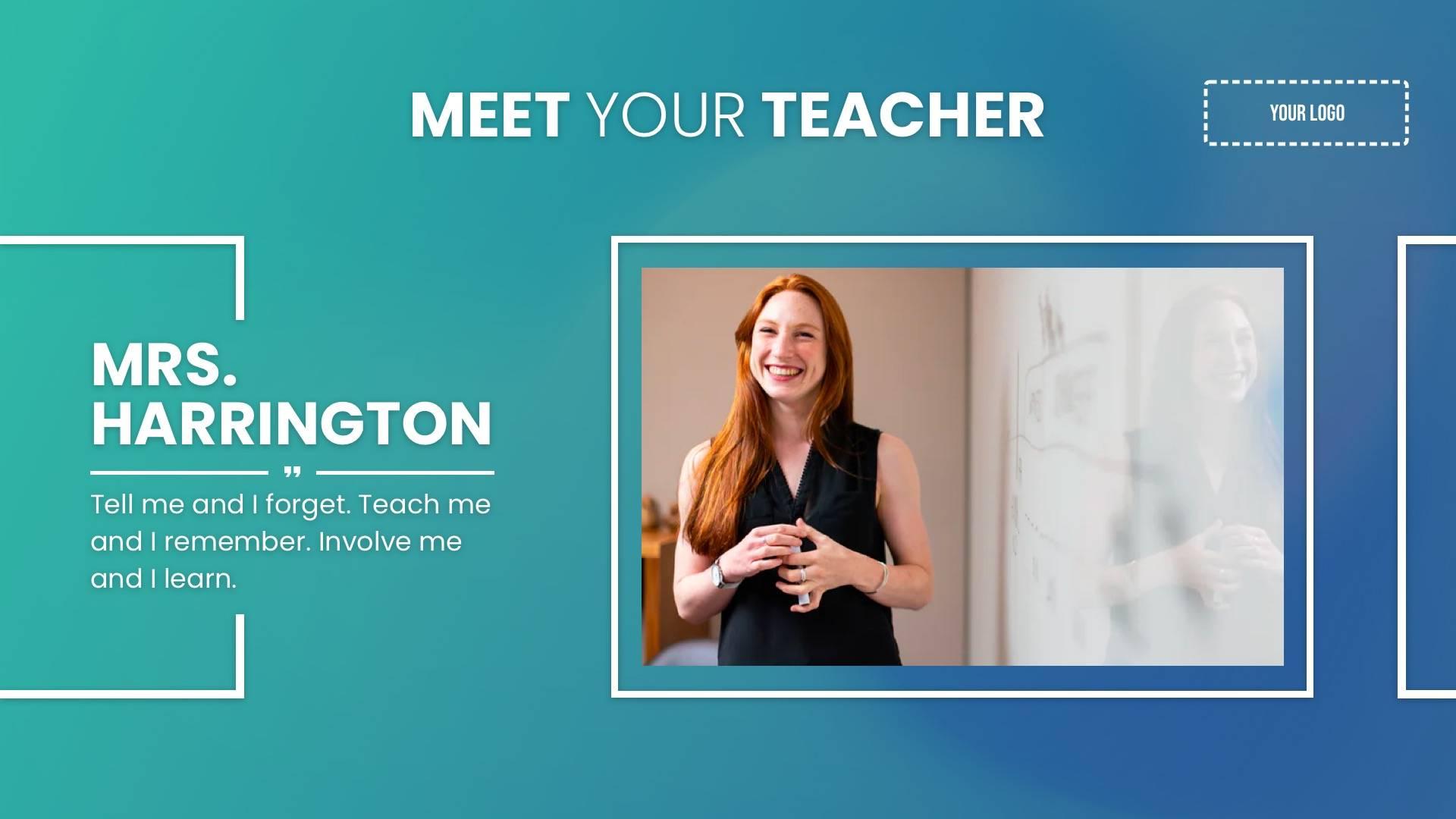 Meet Your Teacher Digital Signage Template