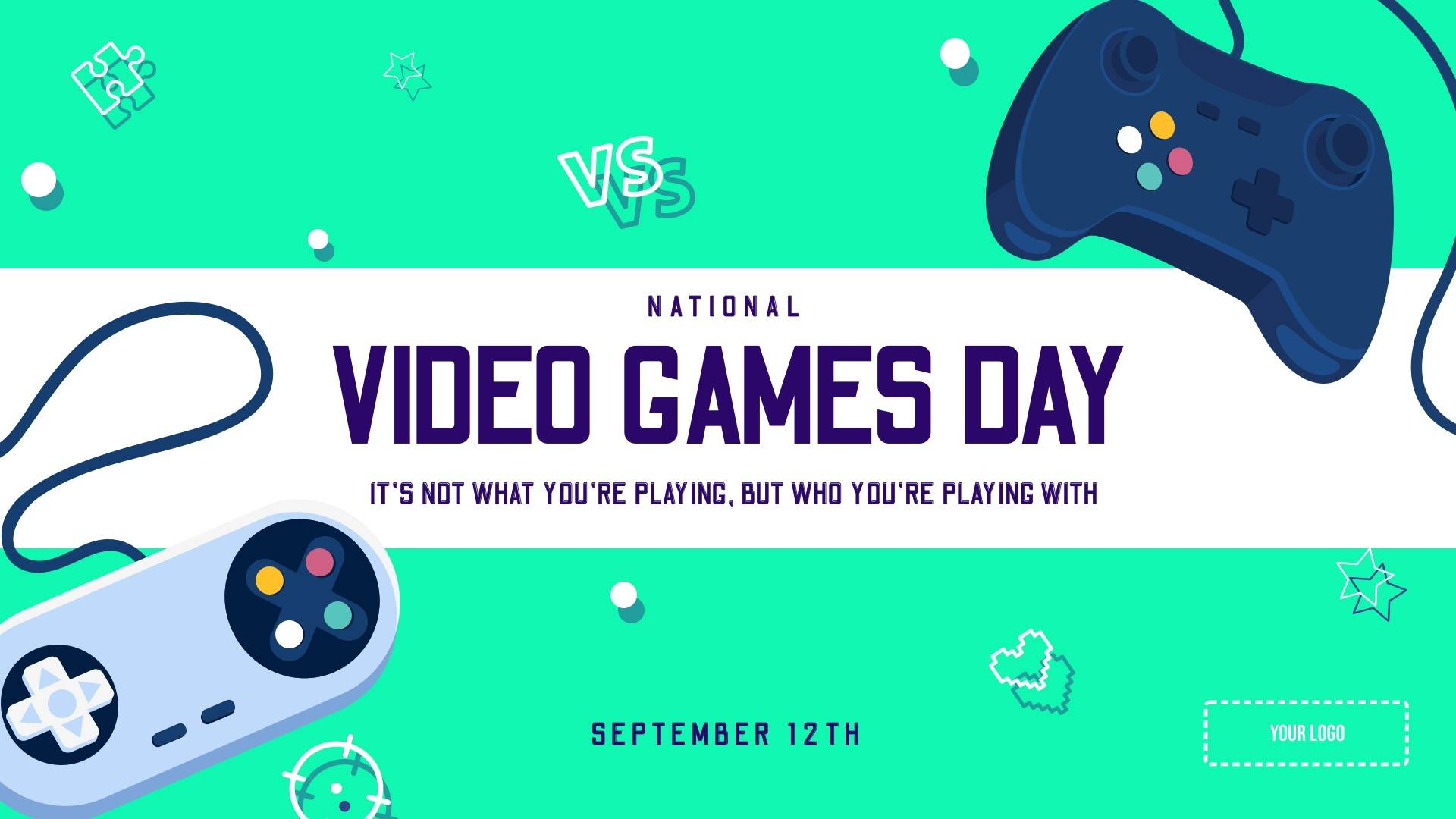 National Video Games Day Digital Signage Template