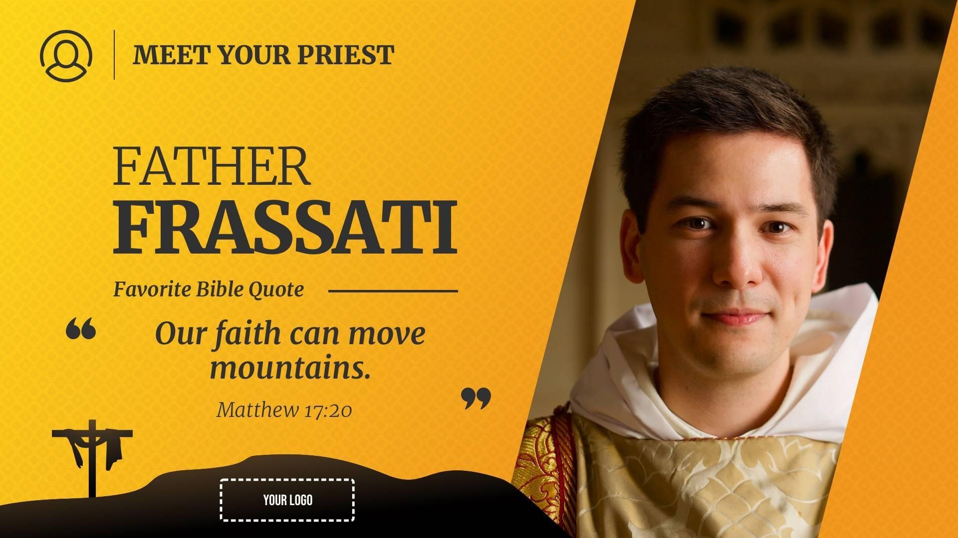 Meet the Priest / Nun Profile Digital Signage Template
