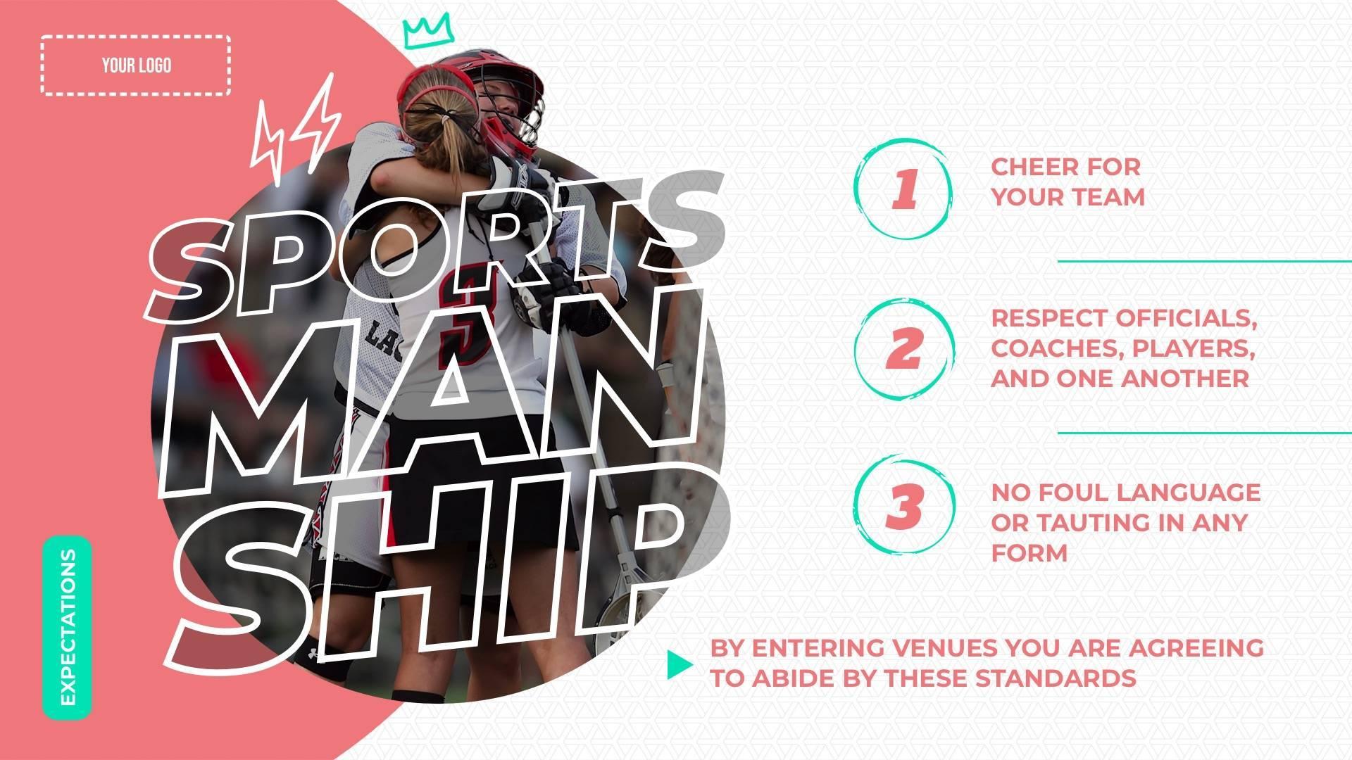 Sportsmanship Rules Digital Signage Template