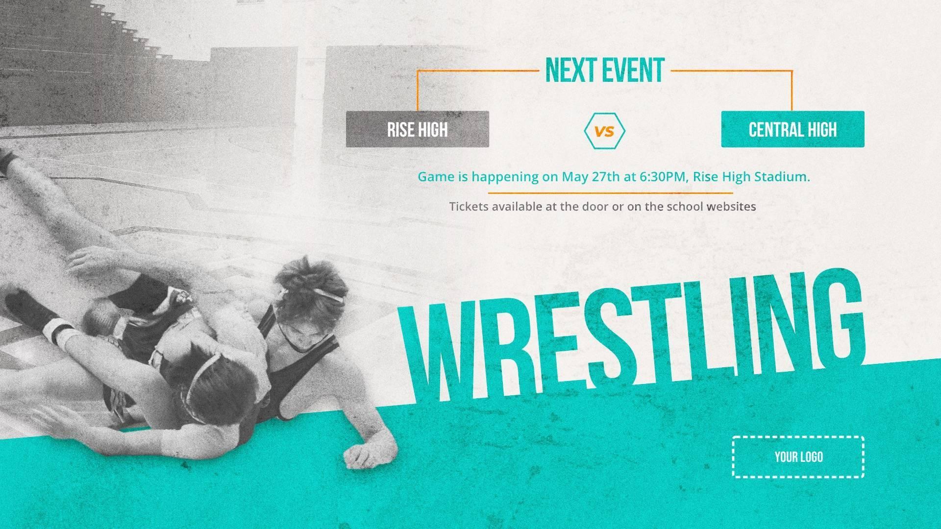 Wrestling - Sports Digital Signage Template
