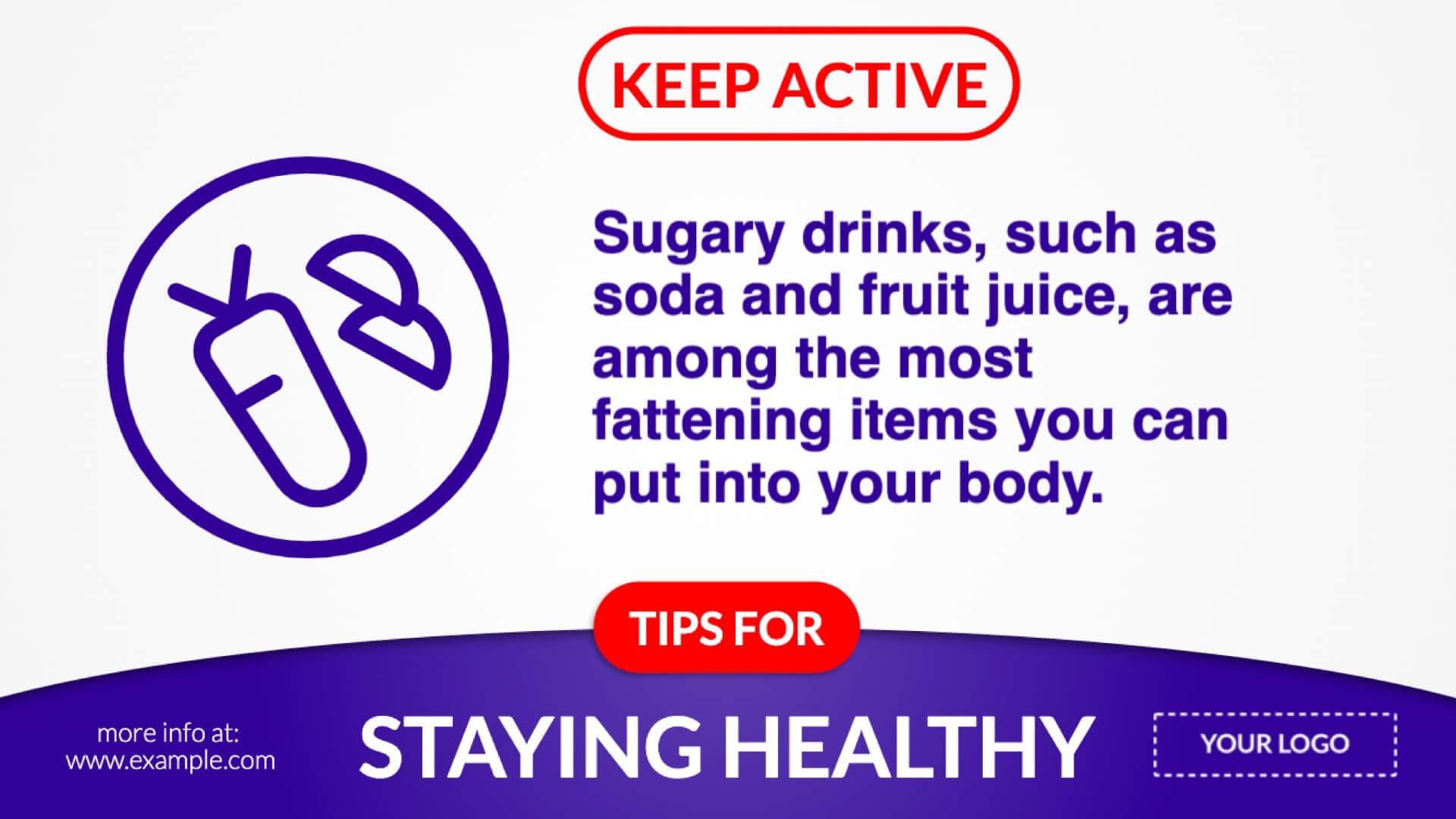 Auto Updating Tips For Staying Healthy Digital Signage Template