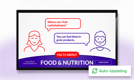 Auto Updating Facts About Food & Nutrition
