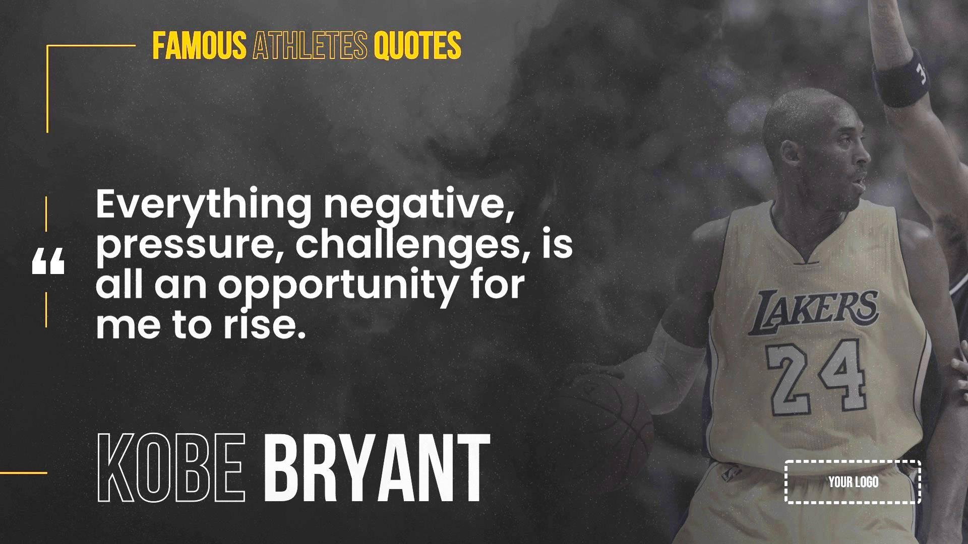 Famous Athletes Quotes Digital Signage Template