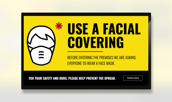 Campaign Facial Covering Text