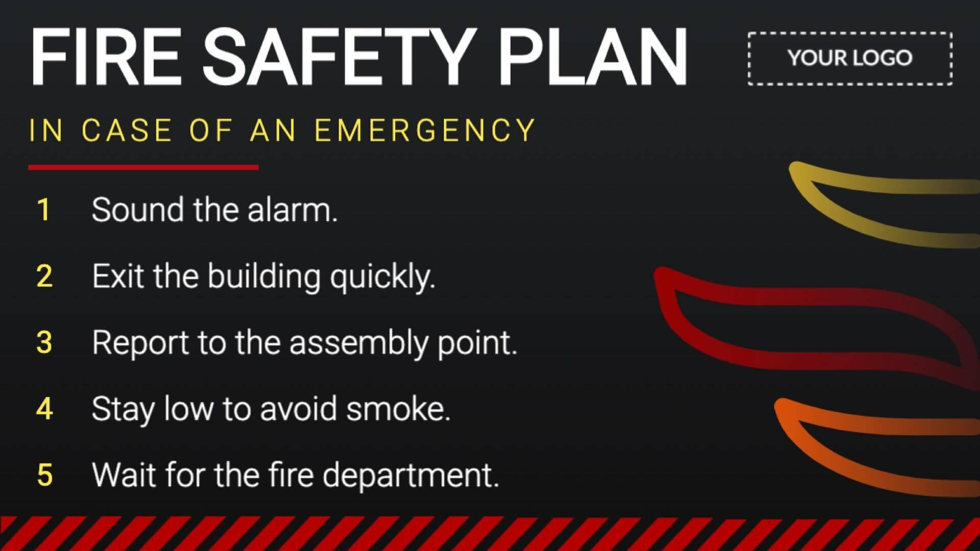 Campaign Fire Safety Digital Signage Template