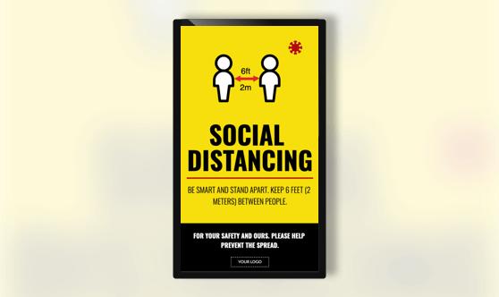 Campaign Social Distancing Text Portrait