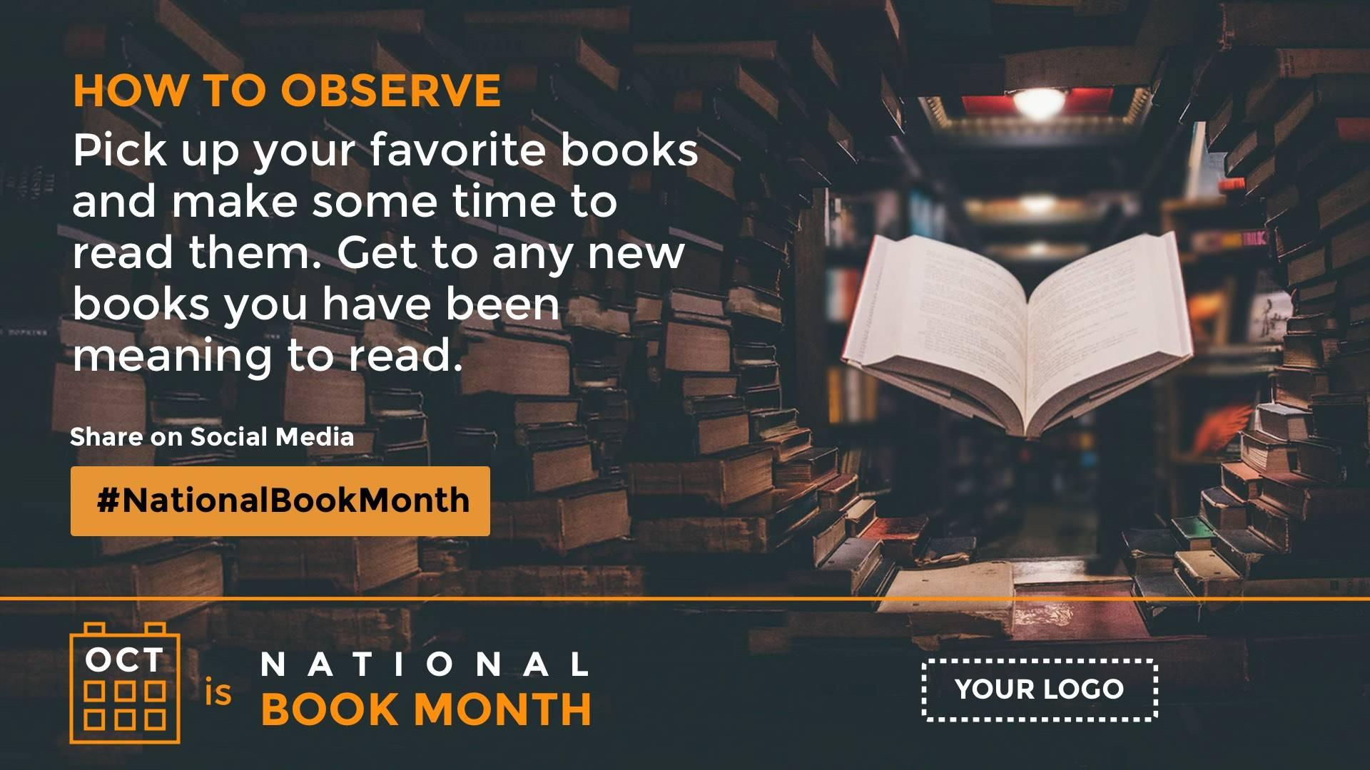 National Book Month Digital Signage Template