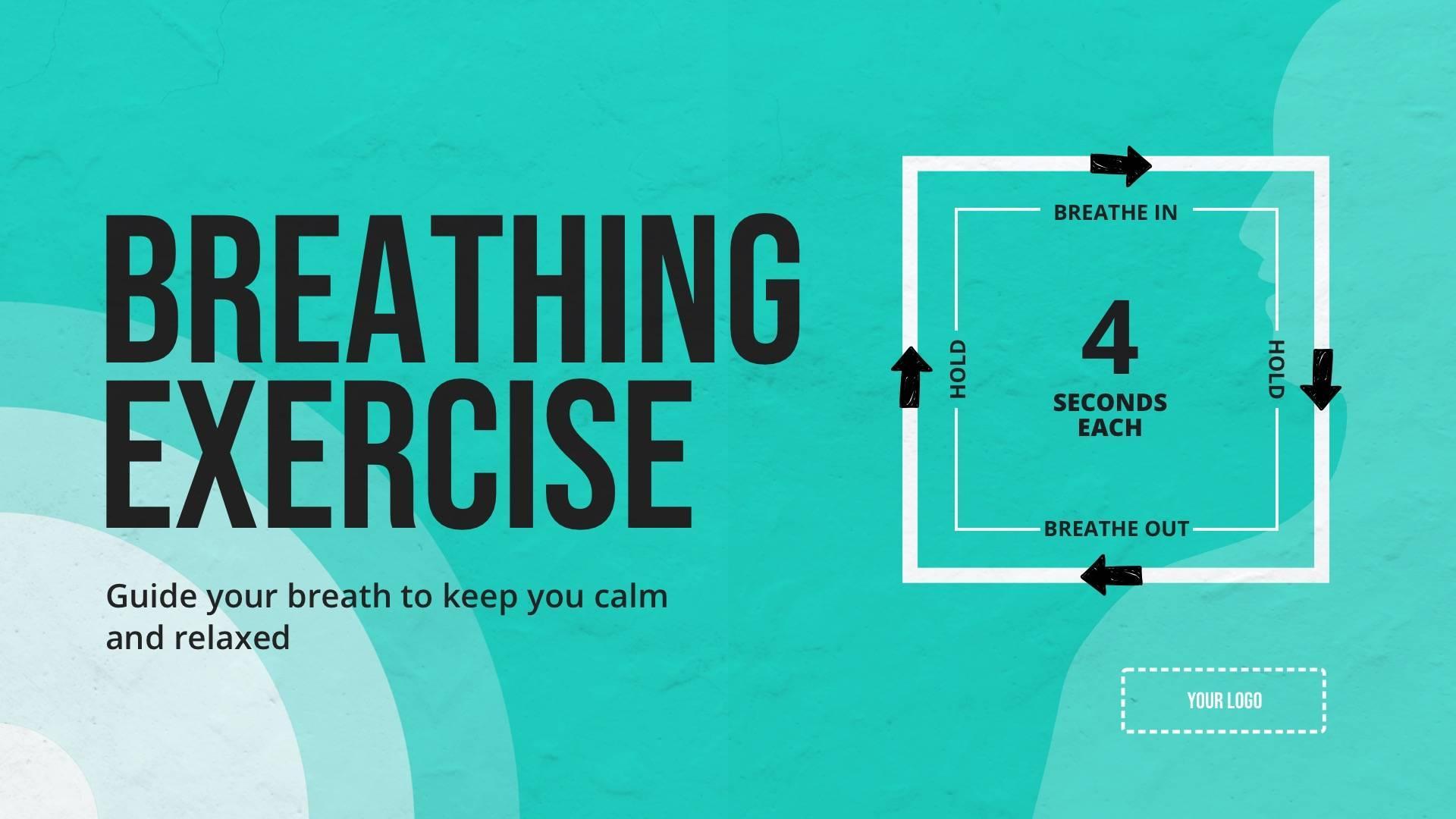 Breathing Exercise Digital Signage Template