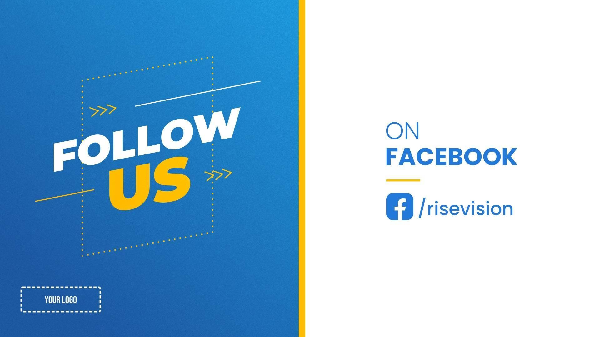 Follow Us on Facebook Digital Signage Template
