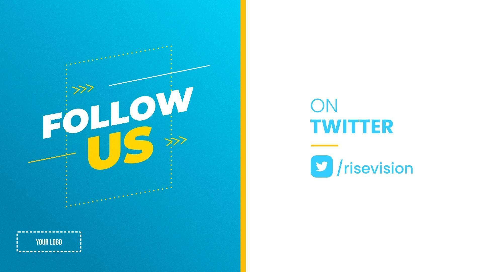Follow Us on Twitter Digital Signage Template