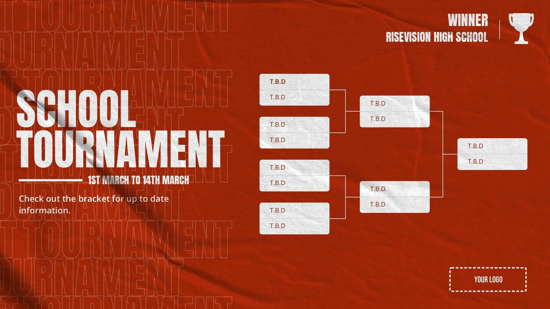 General Tournament Bracket Digital Signage Template