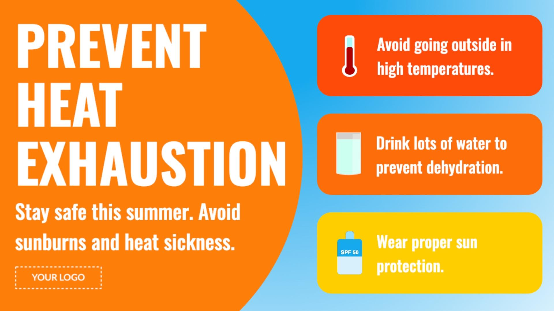 Campaign Heat Exhaustion Prevention Digital Signage Template