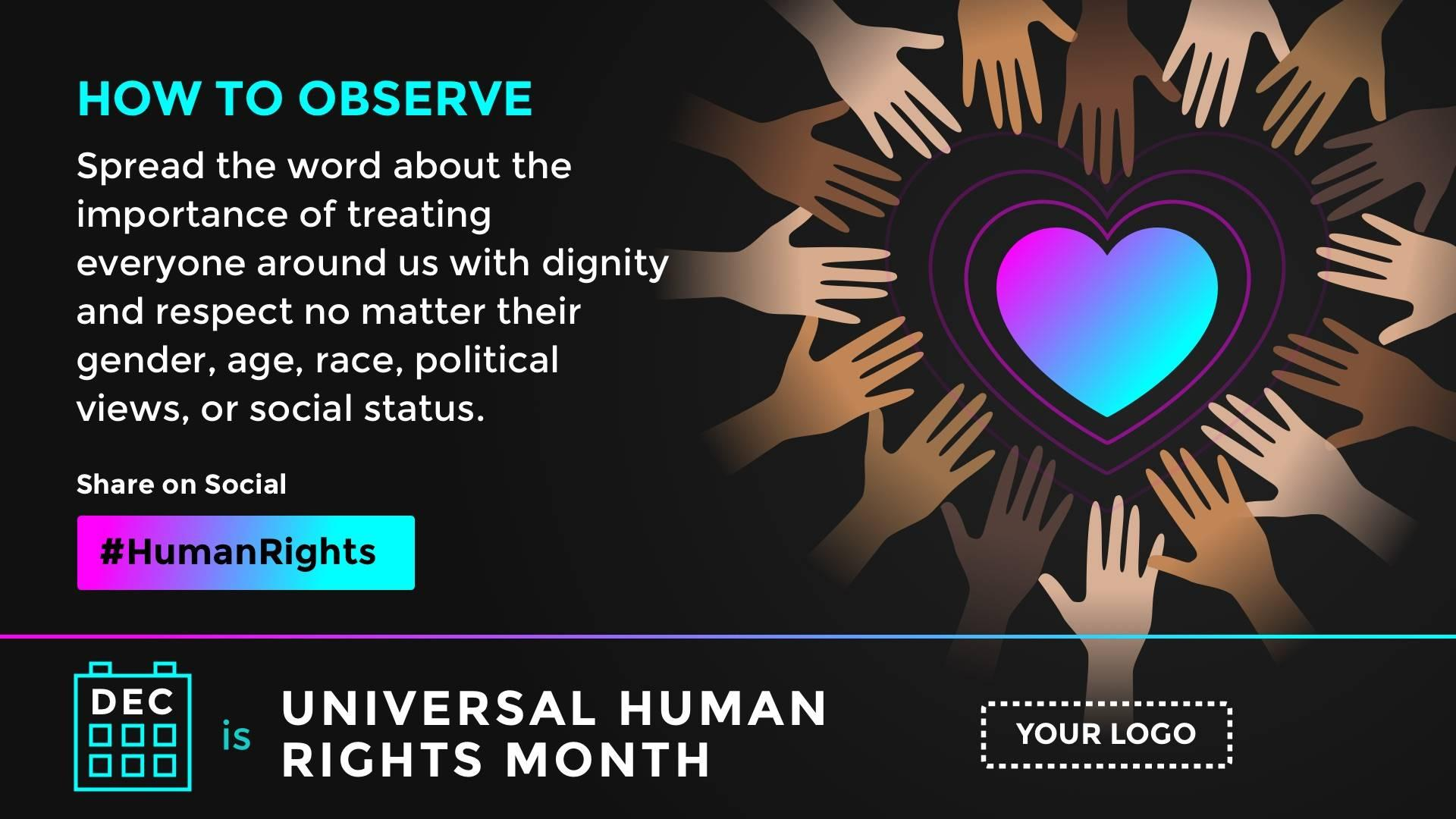 Universal Human Rights Month Digital Signage Template