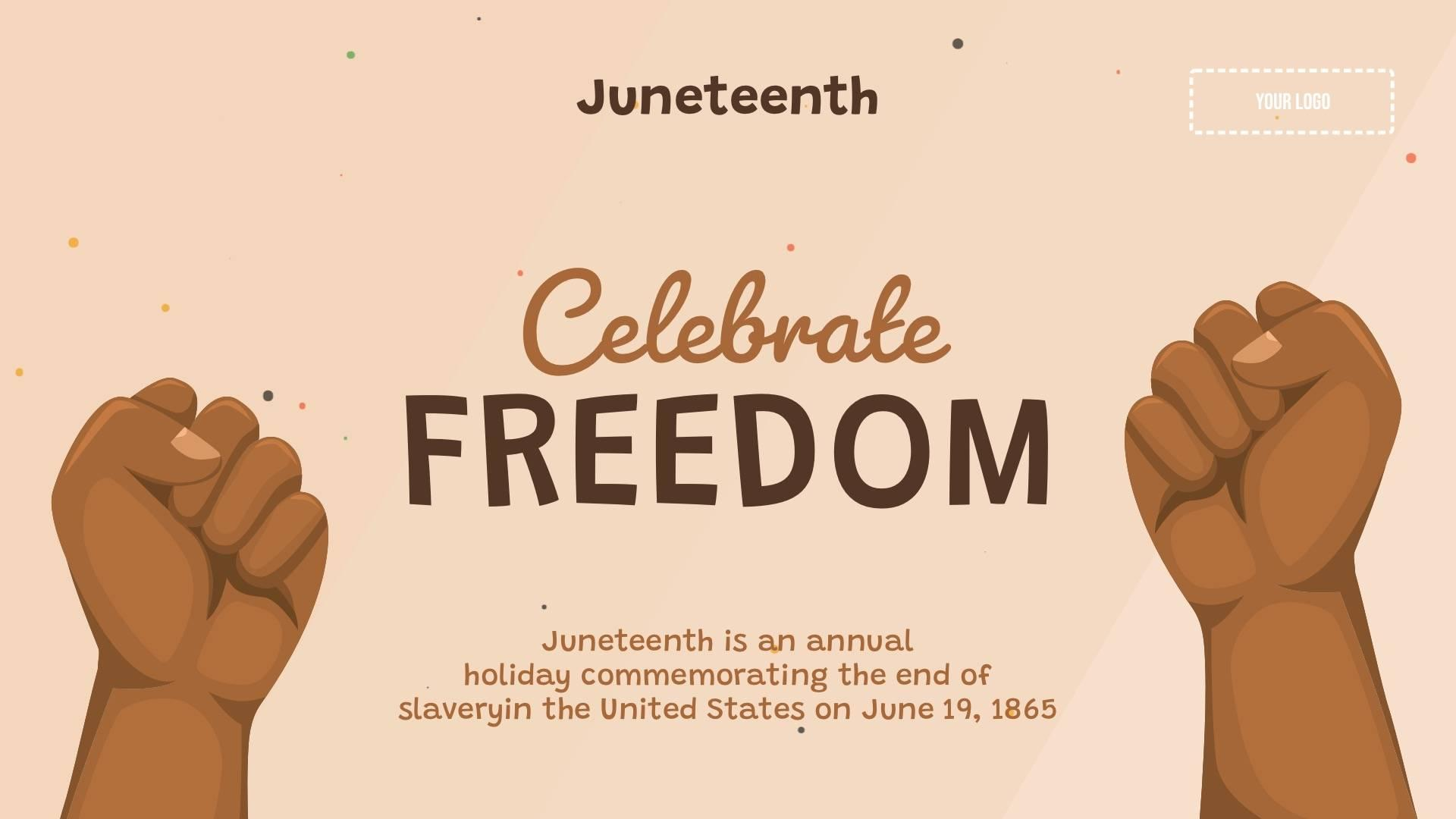 Juneteenth - Freedom Digital Signage Template