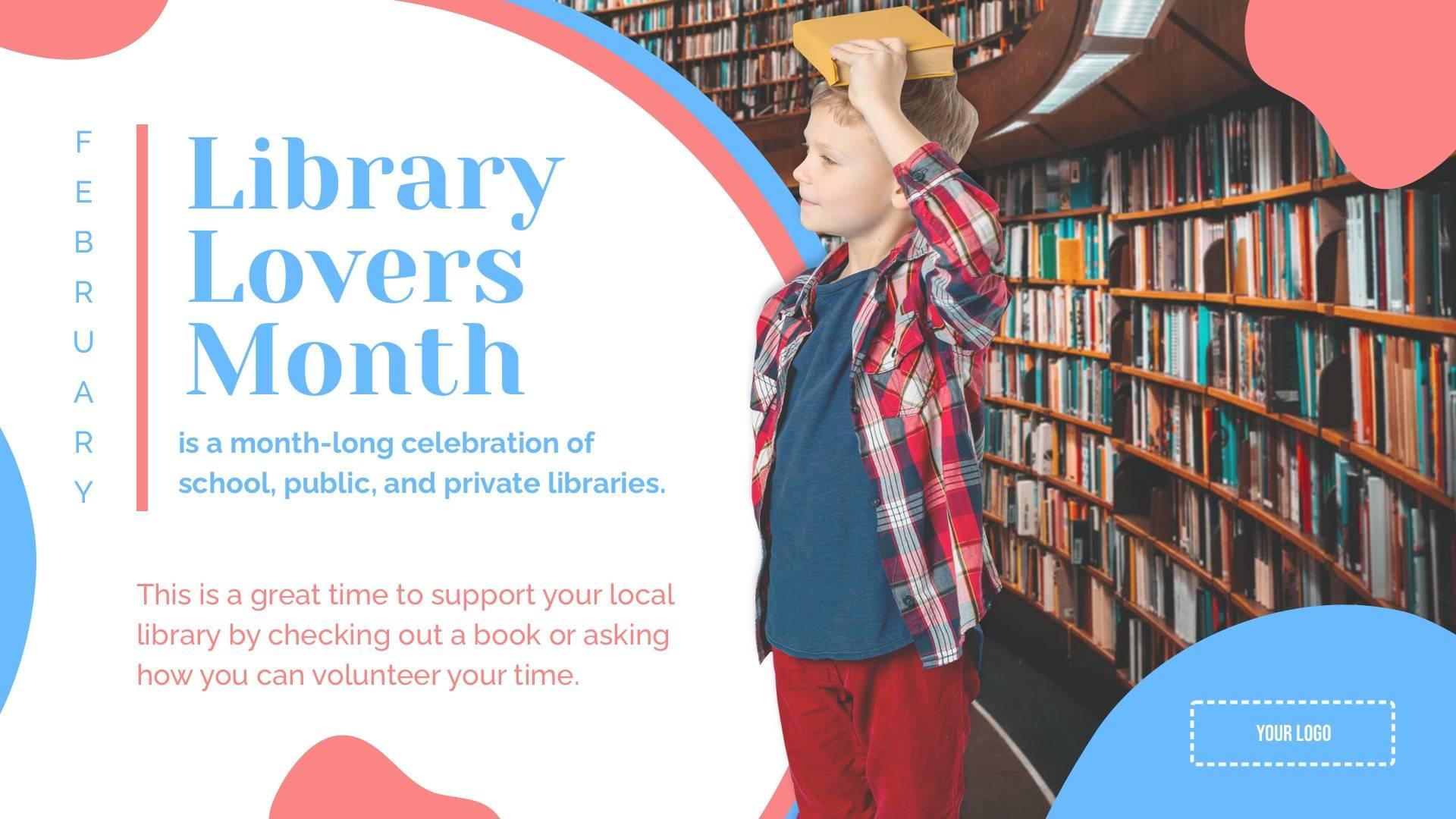 Library Lovers Month Digital Signage Template