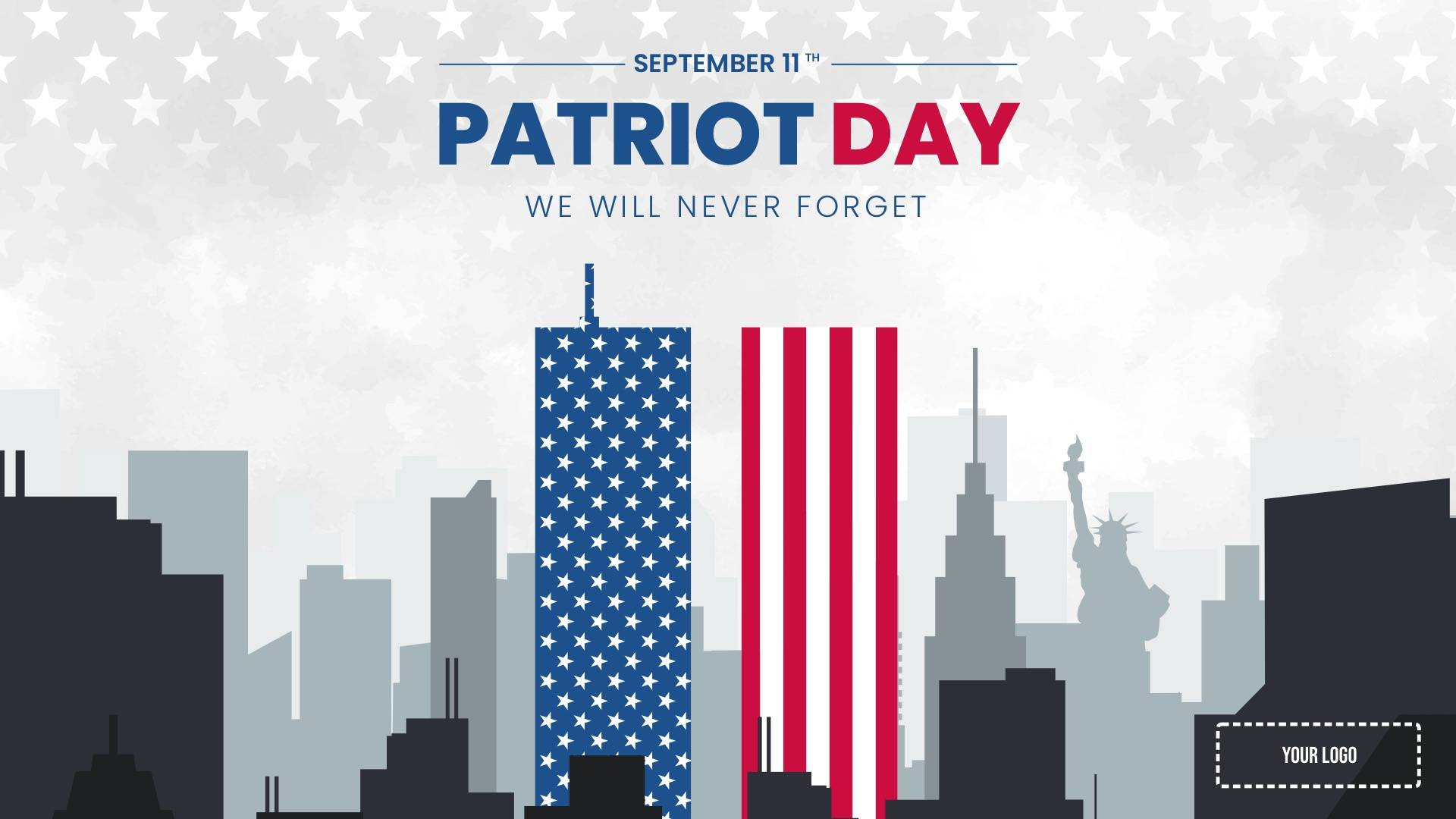 Patriot Day Digital Signage Template