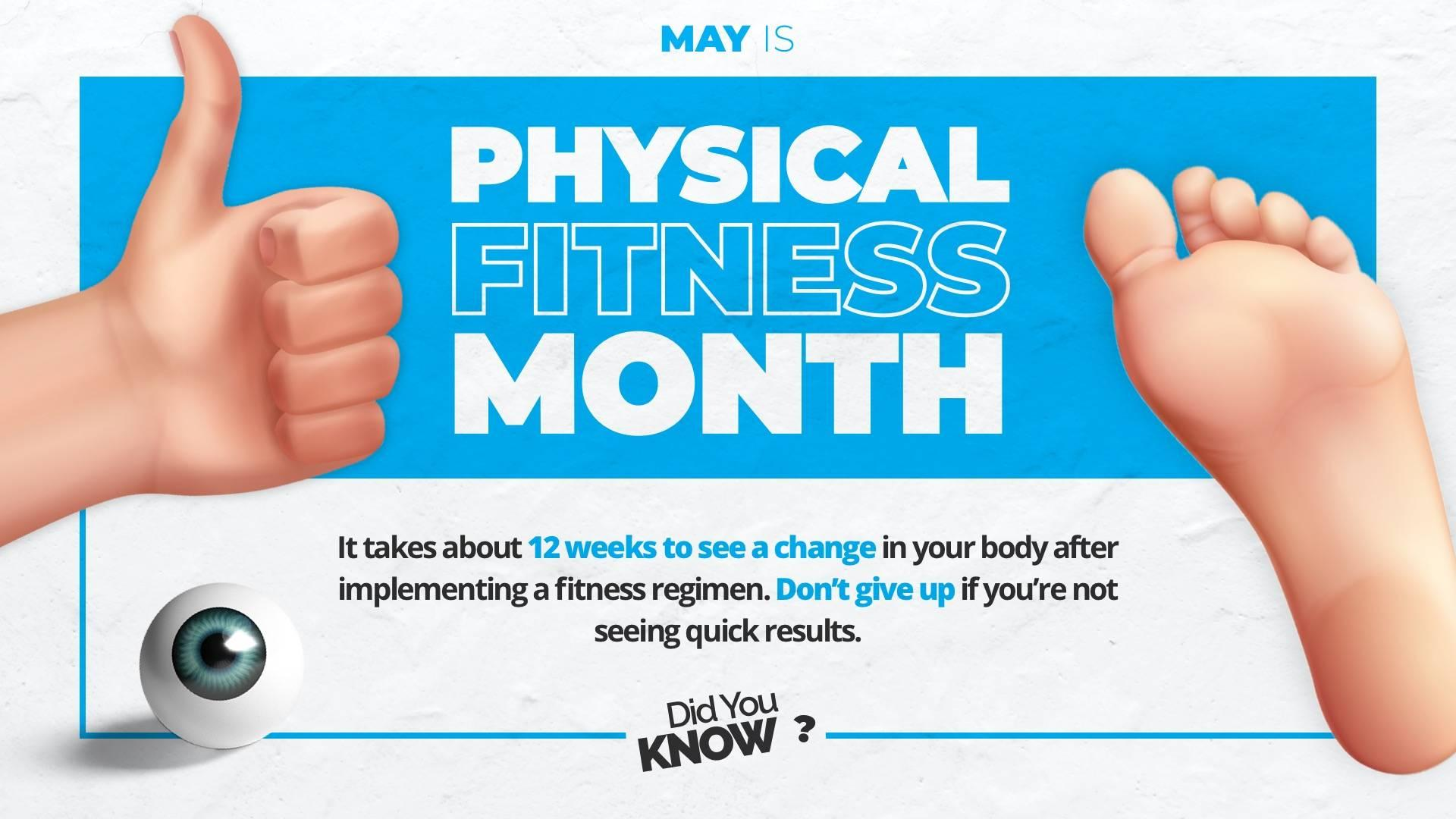 Physical Fitness Month Digital Signage Template