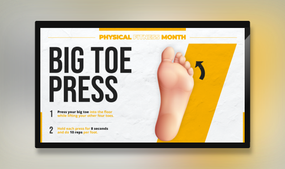 Big Toe Press - Physical Fitness Month