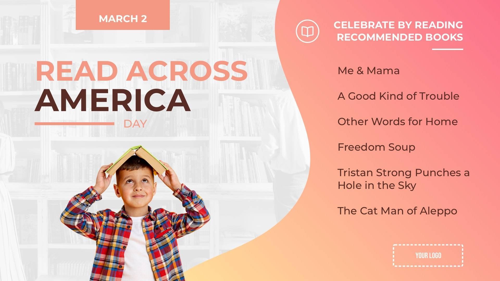 Read Across America Digital Signage Template