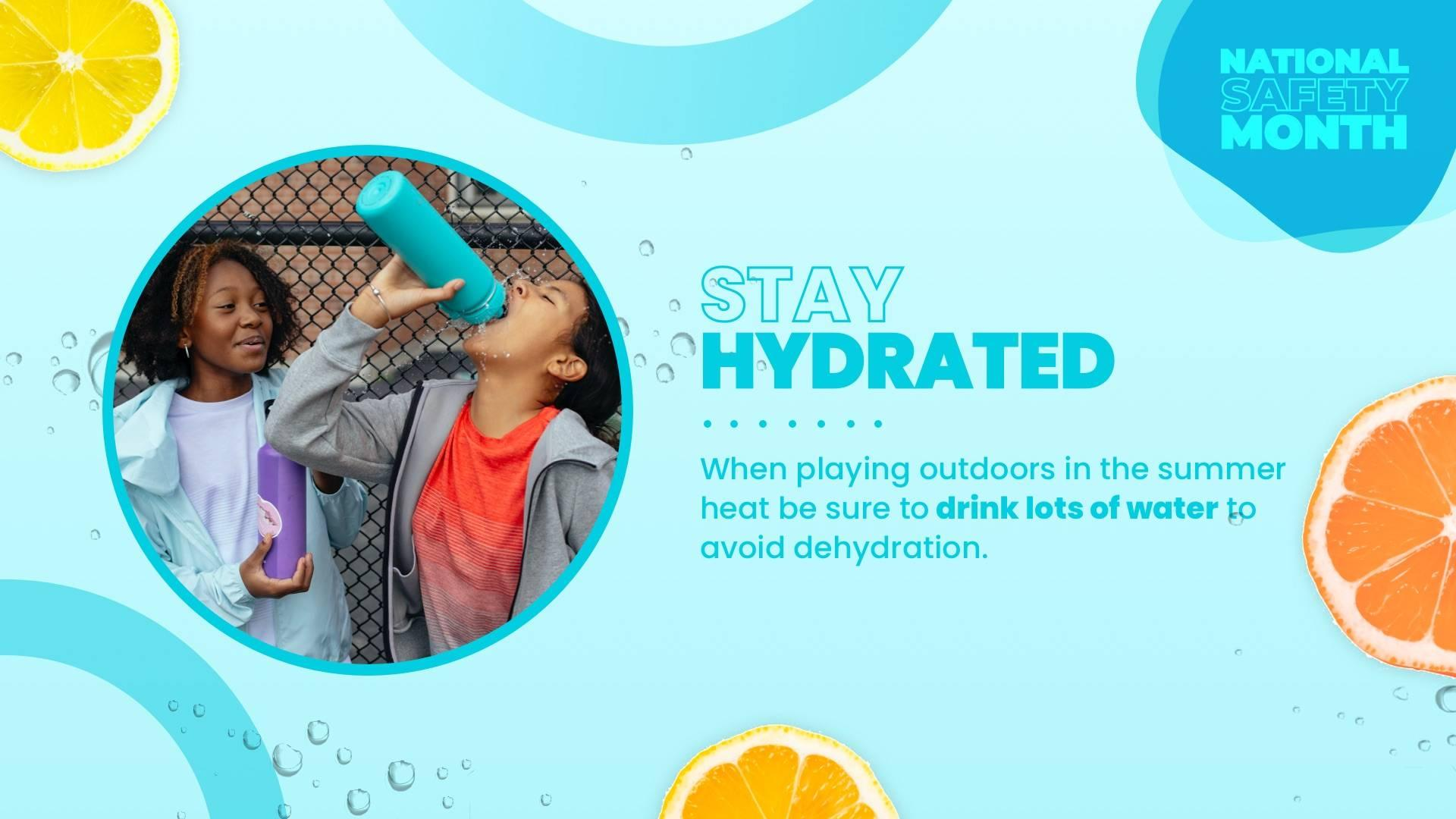 Stay Hydrated - National Safety Month Digital Signage Template