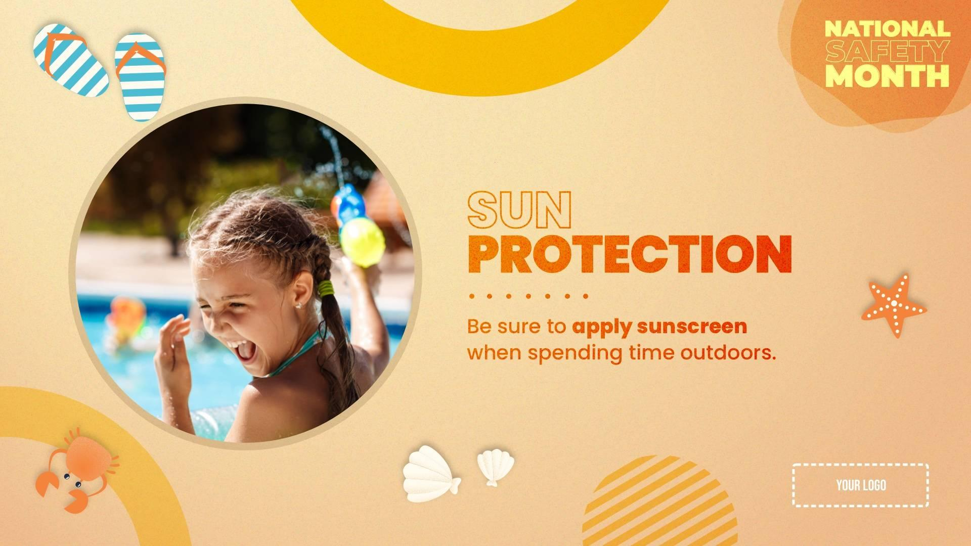 Sun Protection - National Safety Month Digital Signage Template
