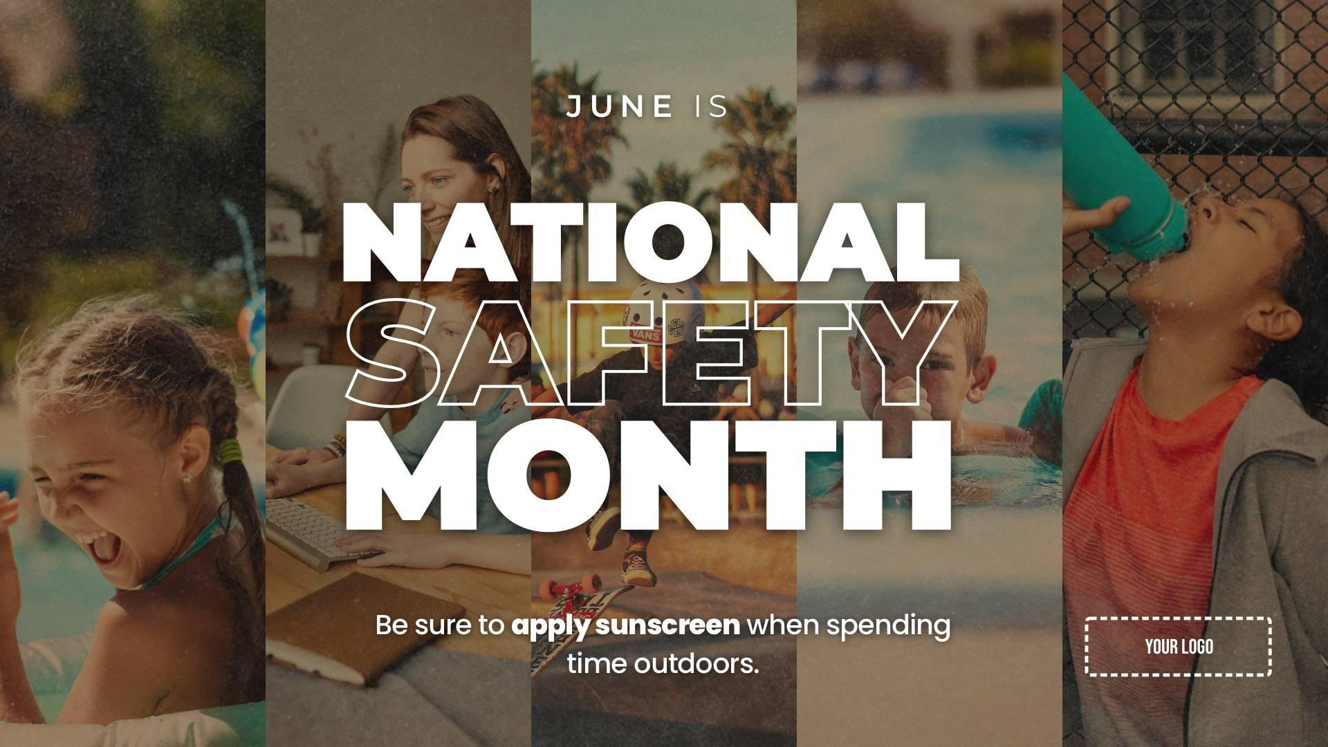 National Safety Month Digital Signage Template