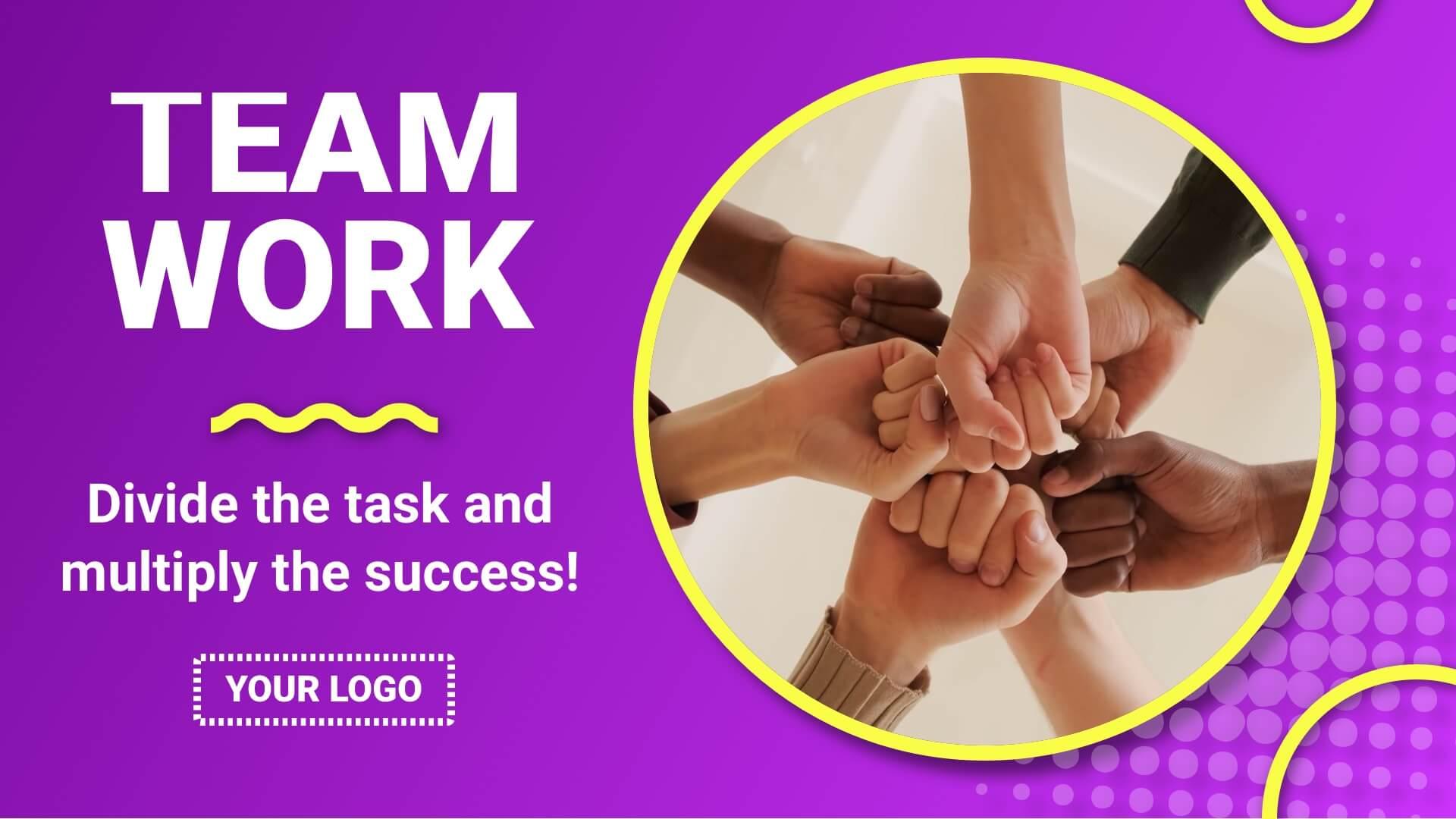 Team Work Digital Signage Template