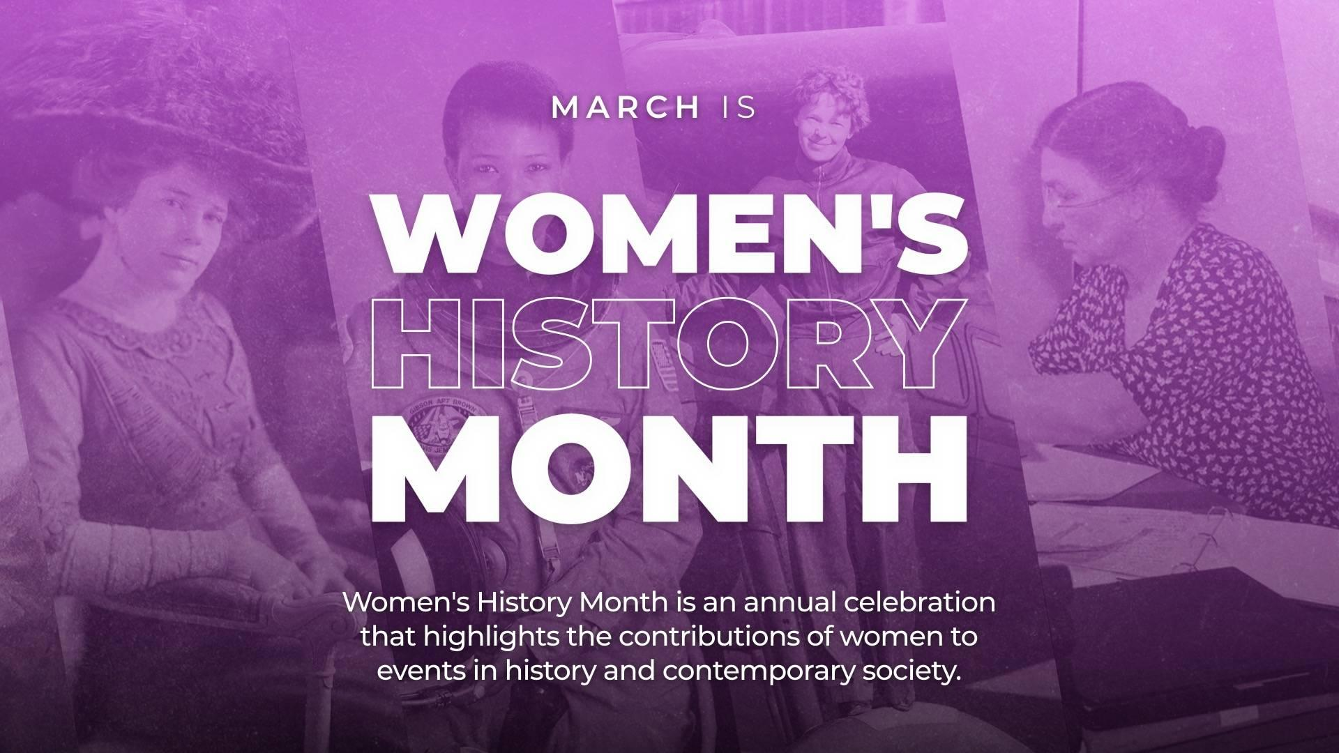 Women's History Month Digital Signage Template
